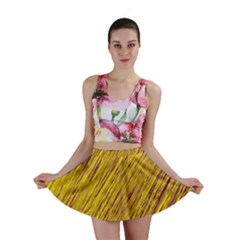 Yellow Van Gogh Pattern Mini Skirt by Valentinaart