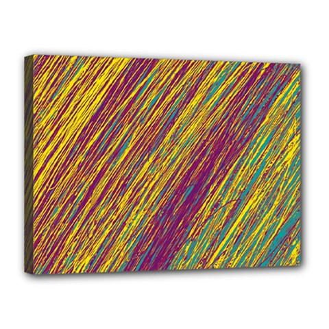 Yellow, Purple And Green Van Gogh Pattern Canvas 16  X 12  by Valentinaart