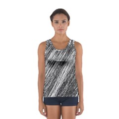 Black And White Decorative Pattern Women s Sport Tank Top  by Valentinaart