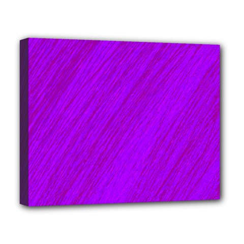 Purple Pattern Deluxe Canvas 20  X 16   by Valentinaart