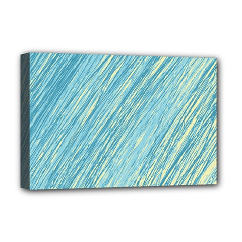 Light Blue Pattern Deluxe Canvas 18  X 12   by Valentinaart