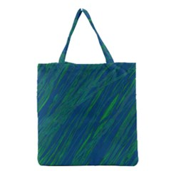 Green Pattern Grocery Tote Bag by Valentinaart