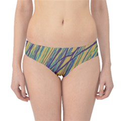 Blue And Yellow Van Gogh Pattern Hipster Bikini Bottoms by Valentinaart