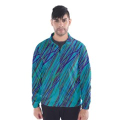 Blue Pattern Wind Breaker (men) by Valentinaart