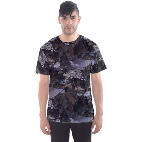 Rugged Man Black Rox Men s Sport Mesh Tee by UniqueCre8ion
