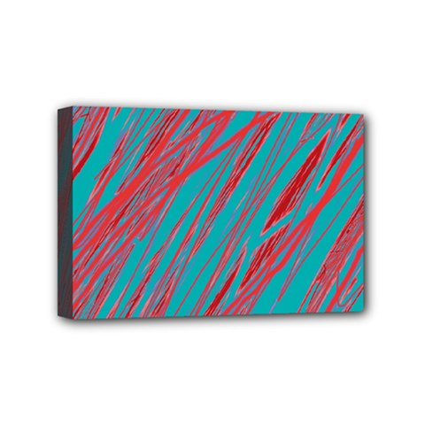 Red And Blue Pattern Mini Canvas 6  X 4  by Valentinaart