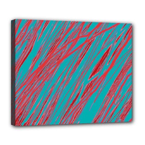 Red And Blue Pattern Deluxe Canvas 24  X 20   by Valentinaart