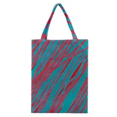 Red And Blue Pattern Classic Tote Bag by Valentinaart