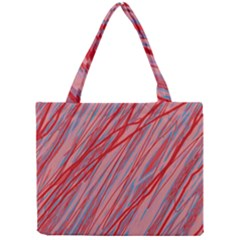 Pink And Red Decorative Pattern Mini Tote Bag by Valentinaart