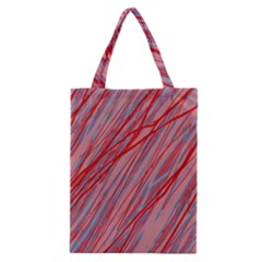 Pink And Red Decorative Pattern Classic Tote Bag by Valentinaart