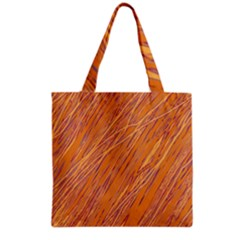 Orange Pattern Grocery Tote Bag by Valentinaart