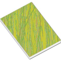 Green And Yellow Van Gogh Pattern Large Memo Pads by Valentinaart