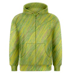Green And Yellow Van Gogh Pattern Men s Zipper Hoodie by Valentinaart