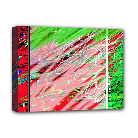 Colorful Pattern Deluxe Canvas 16  X 12   by Valentinaart