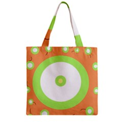 Green And Orange Design Zipper Grocery Tote Bag by Valentinaart