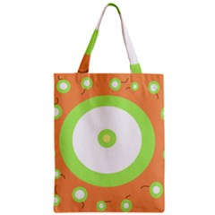 Green And Orange Design Zipper Classic Tote Bag by Valentinaart