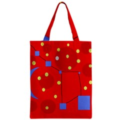 Red Sky Zipper Classic Tote Bag by Valentinaart
