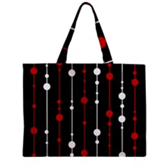 Red Black And White Pattern Zipper Mini Tote Bag by Valentinaart