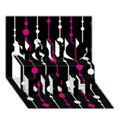 Magenta White And Black Pattern You Did It 3d Greeting Card (7x5)