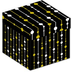 Yellow, Black And White Pattern Storage Stool 12   by Valentinaart