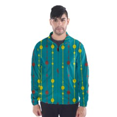 Green, Yellow And Red Pattern Wind Breaker (men) by Valentinaart