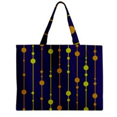 Deep Blue, Orange And Yellow Pattern Zipper Mini Tote Bag by Valentinaart