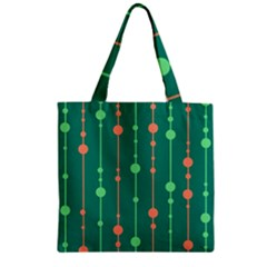 Green Pattern Zipper Grocery Tote Bag by Valentinaart
