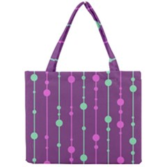 Purple And Green Pattern Mini Tote Bag by Valentinaart