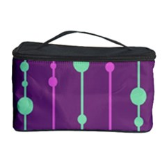 Purple And Green Pattern Cosmetic Storage Case by Valentinaart