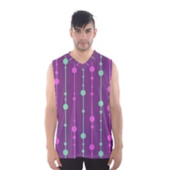 Purple And Green Pattern Men s Basketball Tank Top