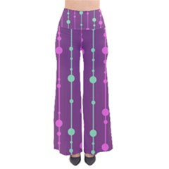 Purple And Green Pattern Pants