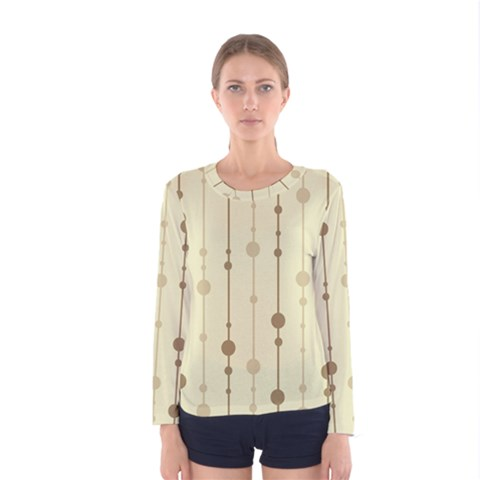 Brown Pattern Women s Long Sleeve Tee by Valentinaart