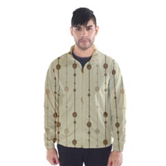 Brown Pattern Wind Breaker (men) by Valentinaart