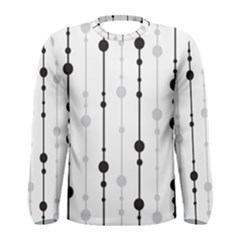 Black And White Elegant Pattern Men s Long Sleeve Tee by Valentinaart