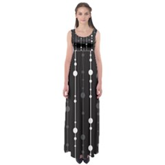 Black And White Pattern Empire Waist Maxi Dress by Valentinaart