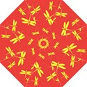 Red and yellow dragonflies pattern Hook Handle Umbrellas (Medium) View1