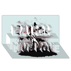 Dancing With Crows Laugh Live Love 3d Greeting Card (8x4)