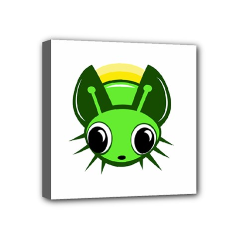 Transparent Firefly Mini Canvas 4  X 4  by Valentinaart
