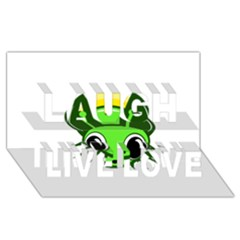 Transparent Firefly Laugh Live Love 3d Greeting Card (8x4)