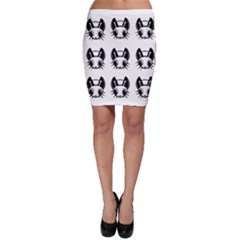 Black And White Fireflies Patten Bodycon Skirt by Valentinaart