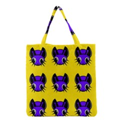 Blue And Yellow Fireflies Grocery Tote Bag by Valentinaart