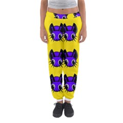 Blue And Yellow Fireflies Women s Jogger Sweatpants
