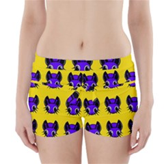 Blue And Yellow Fireflies Boyleg Bikini Wrap Bottoms by Valentinaart