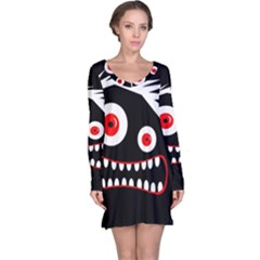 Crazy Monster Long Sleeve Nightdress by Valentinaart