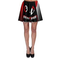 Zombie Face Skater Skirt by Valentinaart