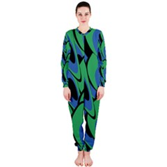 Peacock Pattern Onepiece Jumpsuit (ladies)  by Valentinaart