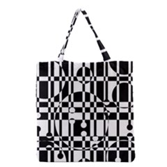 Black And White Pattern Grocery Tote Bag by Valentinaart