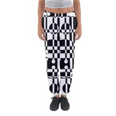 Black And White Pattern Women s Jogger Sweatpants