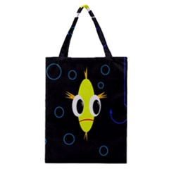 Yellow Fish Classic Tote Bag by Valentinaart