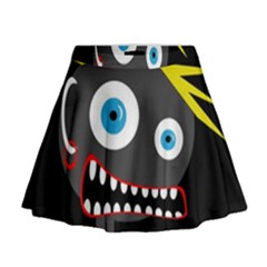 Crazy Man Mini Flare Skirt by Valentinaart